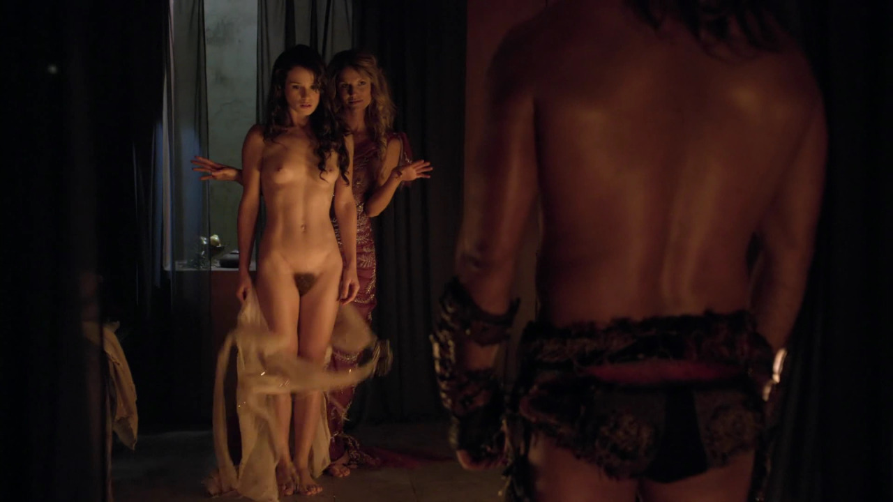 Naked girl in movie war very